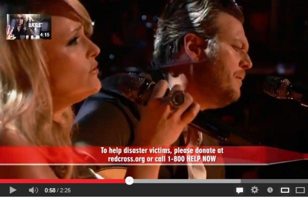 Blake and Miranda do a Tribute to the Oklahoma Tornado Victims