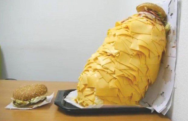 One burger, 1000 slices of cheese!