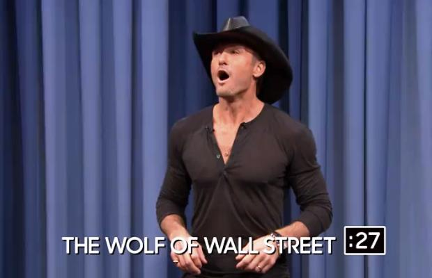 Tim McGraw Plays Charades on the Tonight Show
