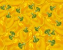 Seamless Background of Fresh yellow bell pepper